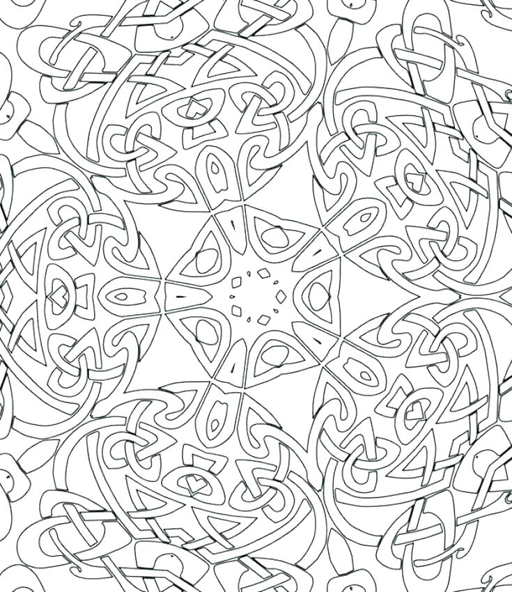 735x850 Intricate Mandala Coloring Pages Printable Abstract Coloring Pages