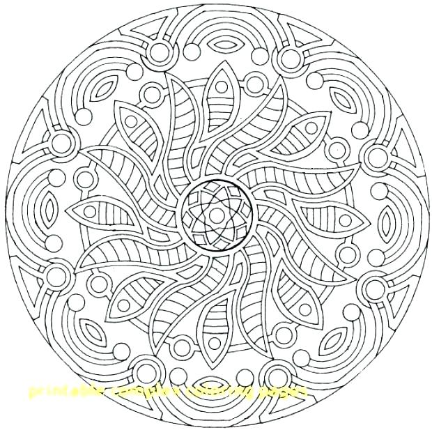 620x617 Printable Abstract Coloring Pages Complex Coloring Sheets Free