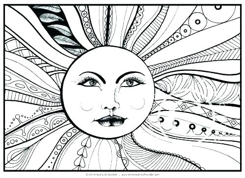 500x364 Coloring Pages For Adults Abstract