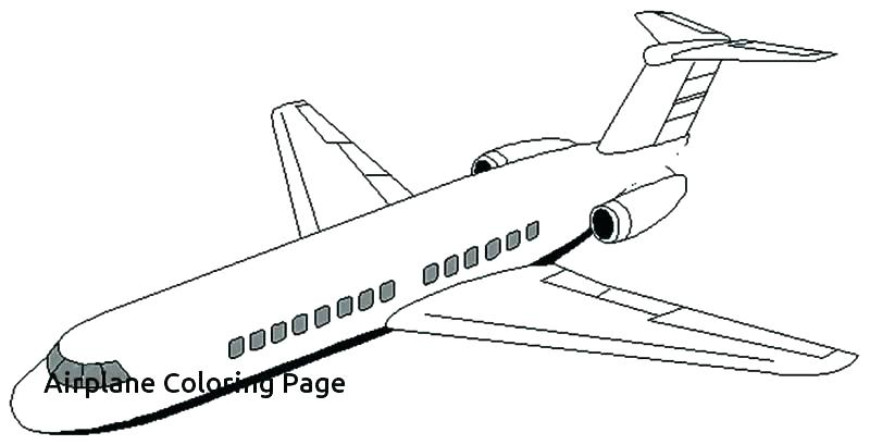 photo relating to Printable Airplane Pictures titled Free of charge Printable Plane Coloring Internet pages at
