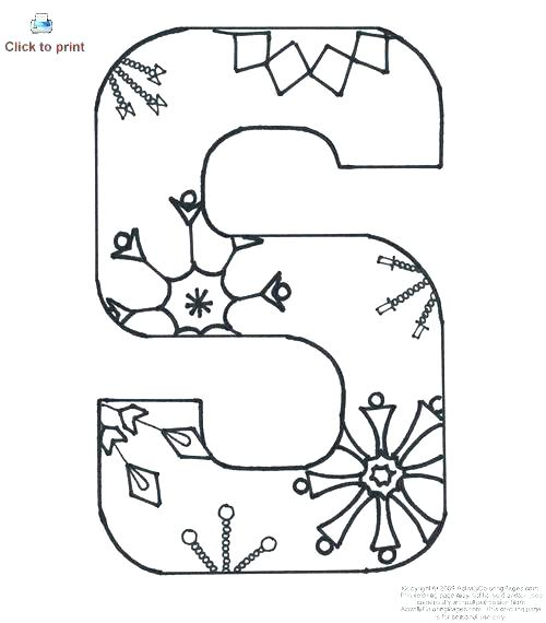 500x570 Alphabet Letter Coloring Pages Alphabet Coloring Pages To Print