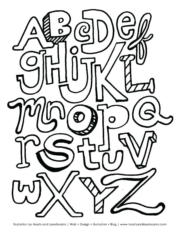 612x792 Free Printable Alphabet Coloring Pages Printable Letter Coloring