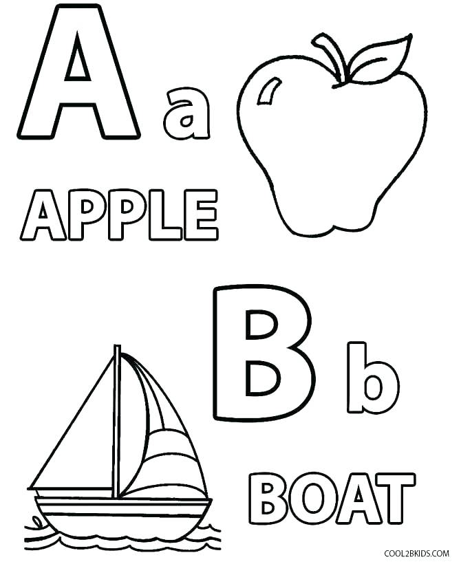 670x820 Free Printable Alphabet Coloring Pages For Toddlers