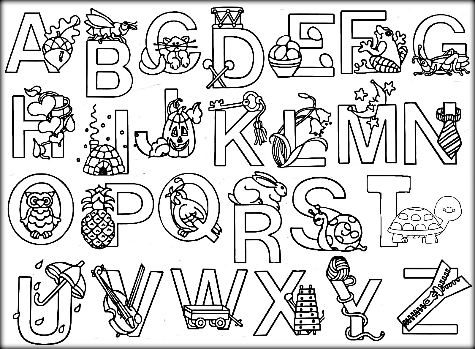 Free Printable Alphabet Coloring Pages at GetDrawings ...