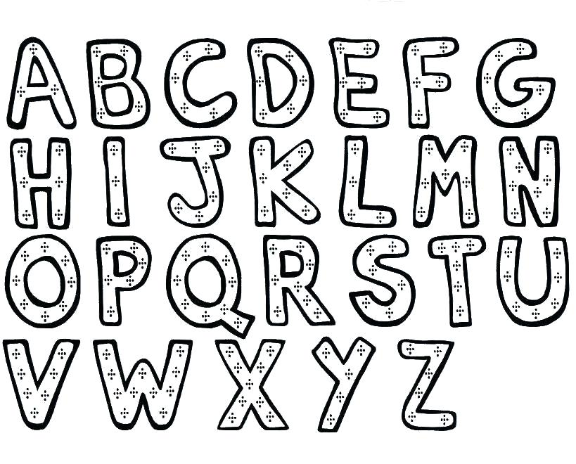 819x660 Alphabet Coloring Pages Pdf Alphabet Coloring Books And Wonderful