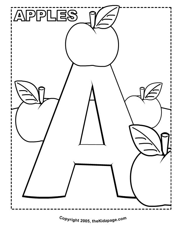 Free Printable Alphabet Coloring Pages For Toddlers