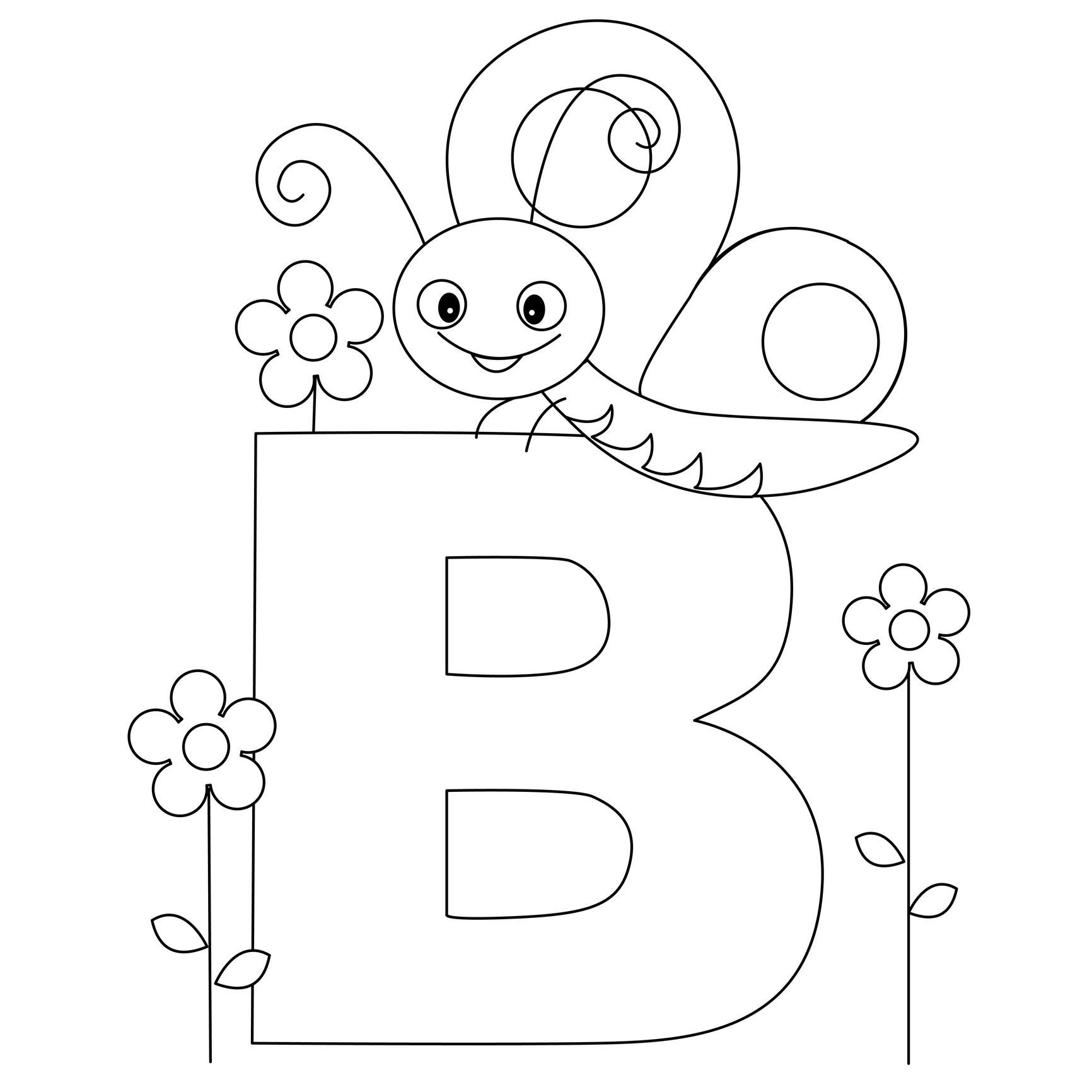 1732x1732 Animal Alphabet Letter B Is For Butterfly! Here's A Simple