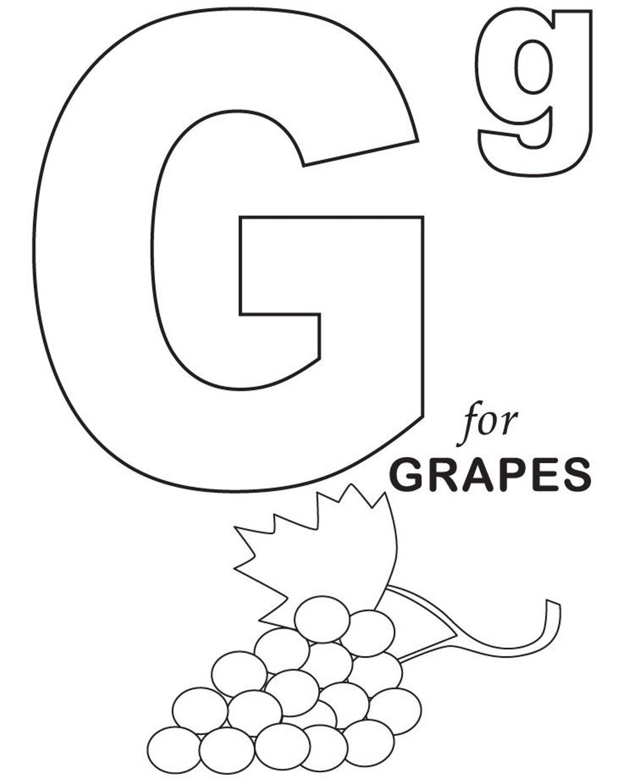 1232x1538 Grapes Fruit Coloring Pages Alphabet Colouring Pages