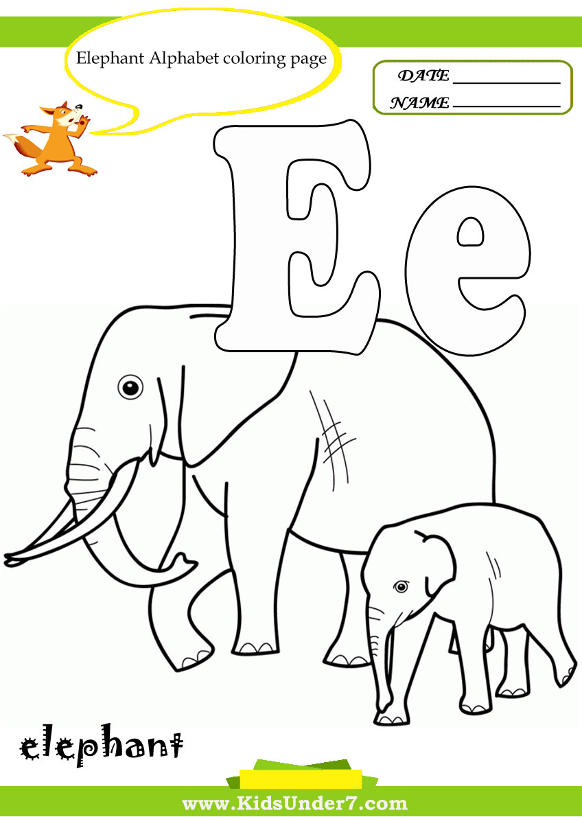 848x1190 Kids Under Letter E Worksheets And Coloring Pages