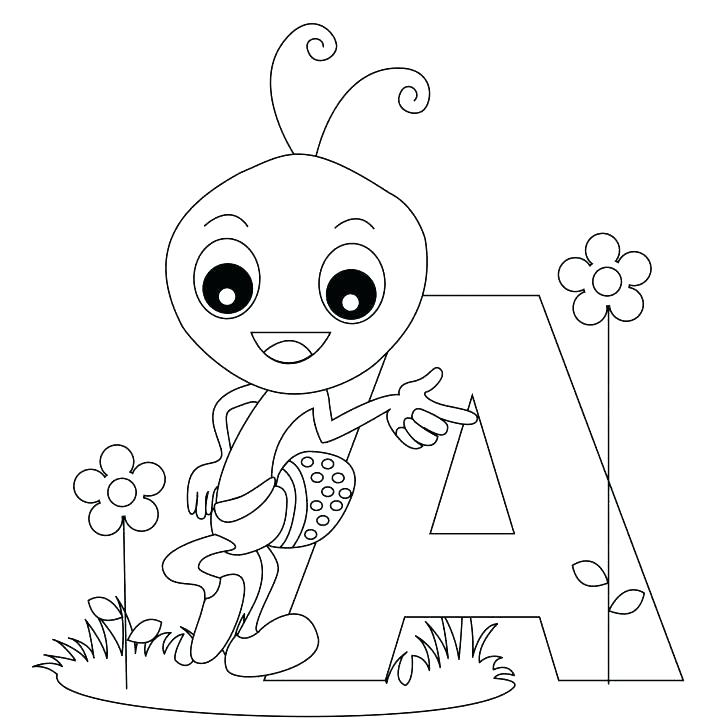 728x728 Letter A Coloring Pages Alphabet Coloring Pages For Toddlers Free
