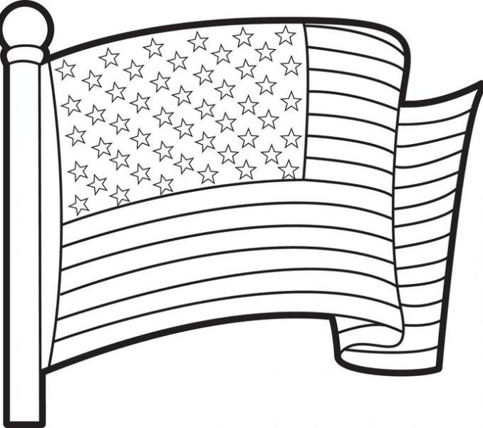 678x600 Printable American Flag Coloring Page Free Printable American Flag