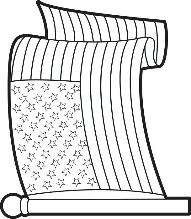 609x700 American Flag Coloring Pages Flag Coloring Page Printable Free