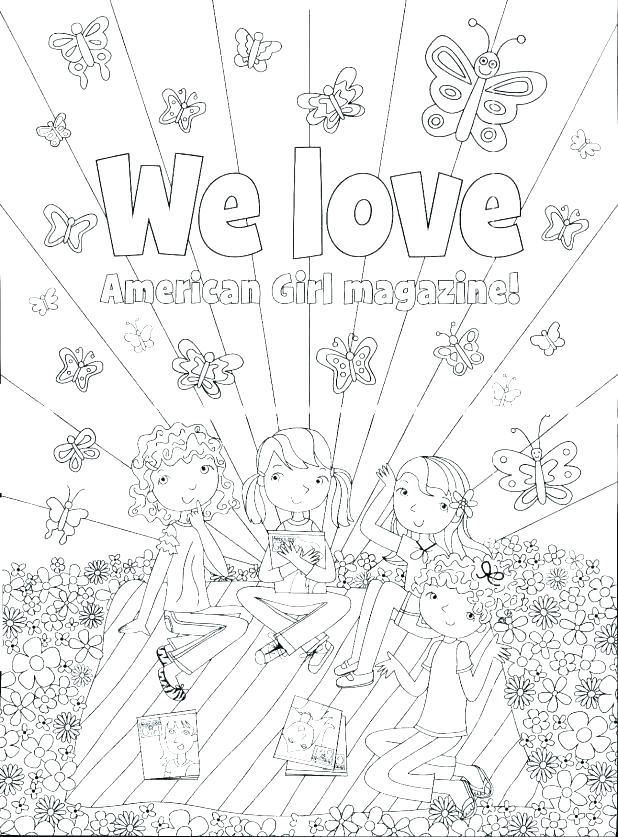 Free Printable American Girl Doll Coloring Pages At Getdrawings Com