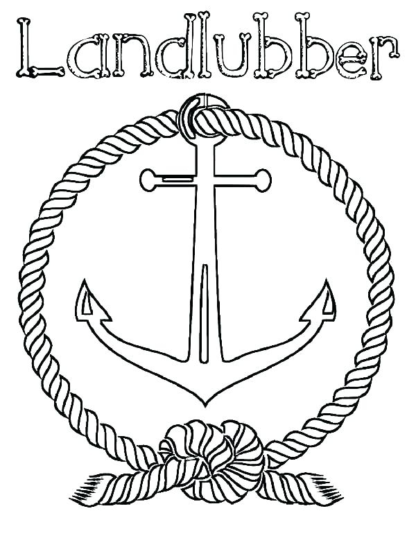 600x776 Anchor Coloring Page Anchor Coloring Page And Black And White