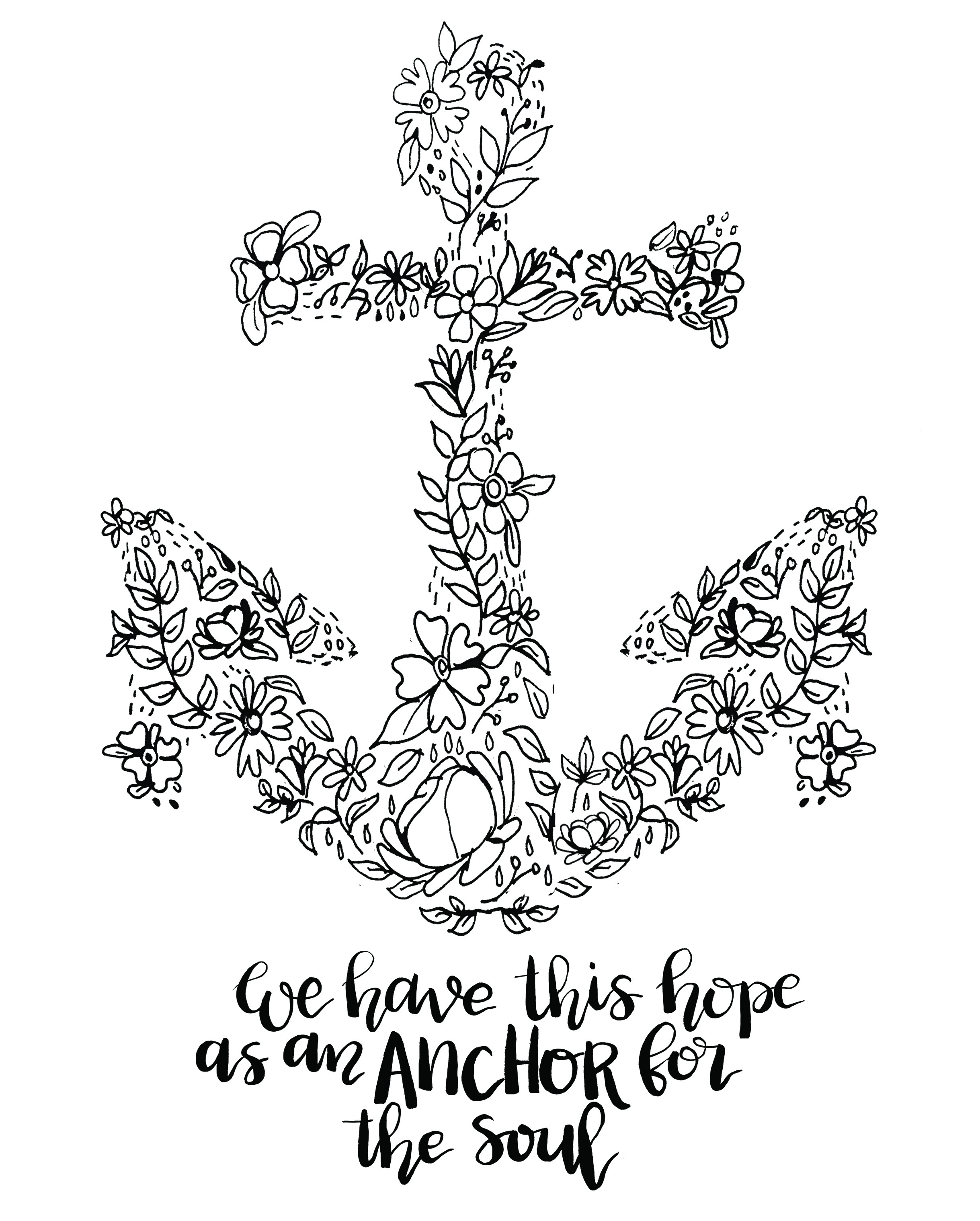 2438x3038 Anchor Coloring Pages Free