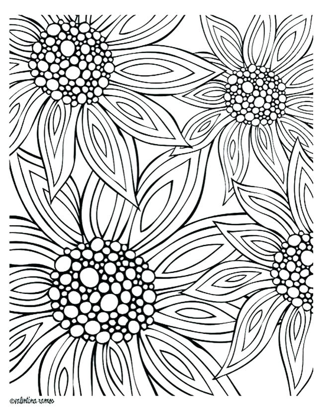 650x841 Printable Coloring Pages Flowers Packed With Coloring Pages