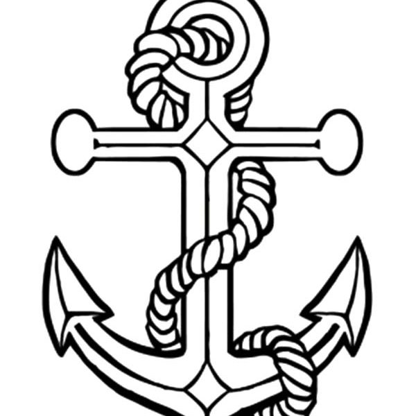 600x600 Anchor Coloring Page