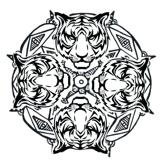 547x544 Excellent Online Mandala Coloring Pages Animal Mandala Coloring