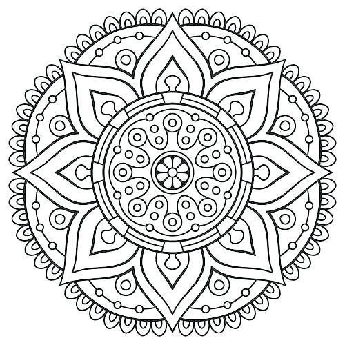 500x500 Free Printable Mandalas Coloring Pages Adults Mandala Coloring
