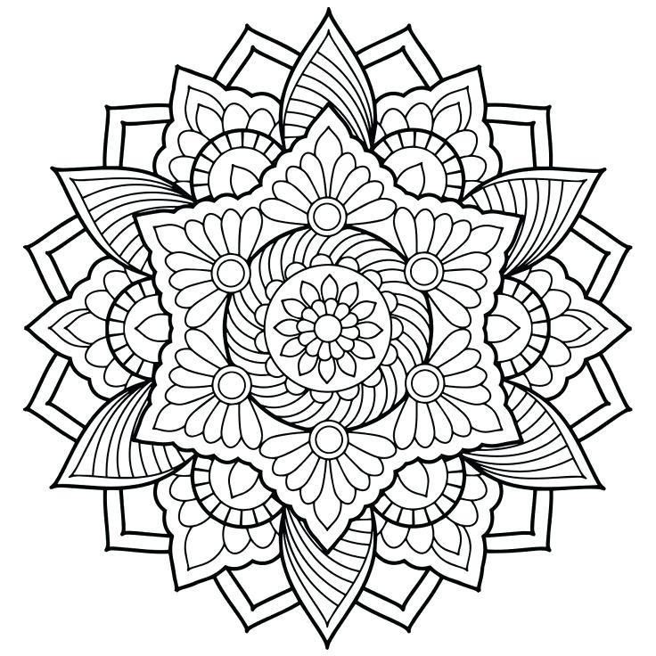 736x736 Mandala Coloring Page Printable Mandala Coloring Pages Animals