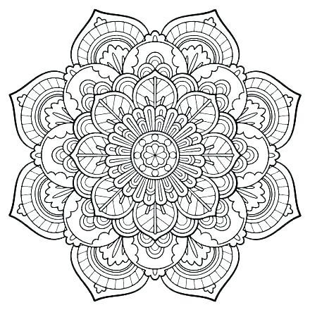 440x440 Mandala Coloring Pages Animal Mandala Coloring Pages Animal