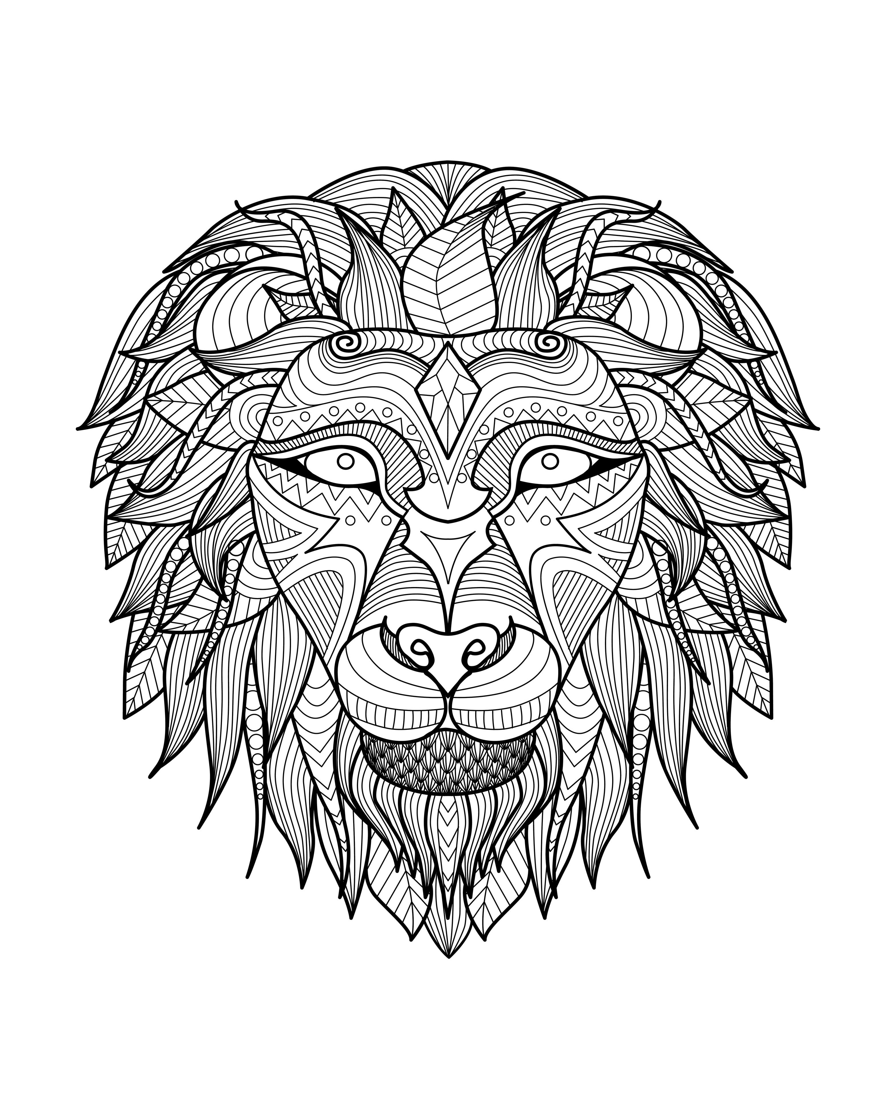 3128x3907 Value Lion Mandala Coloring Pages Just Color For Adults