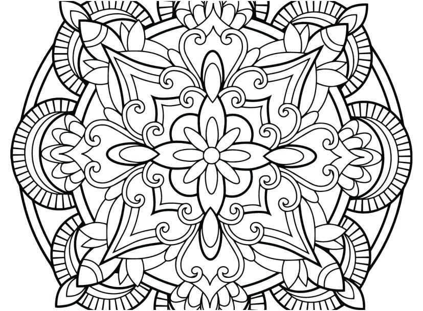 827x609 Free Mandala Coloring Pages