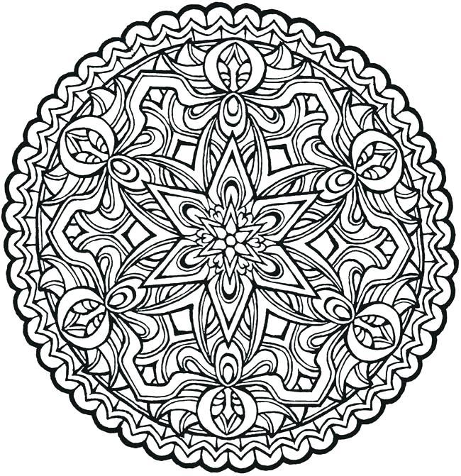 650x671 Animal Mandala Coloring Pages Free Printable