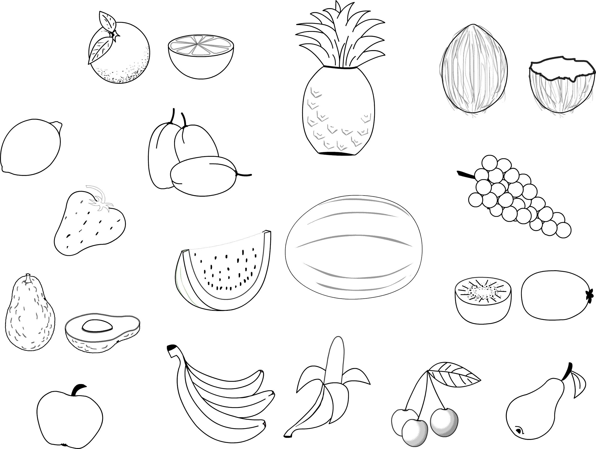 2499x1881 Fruit Coloring Pages Luxury Free Printable Fruit Coloring Pages