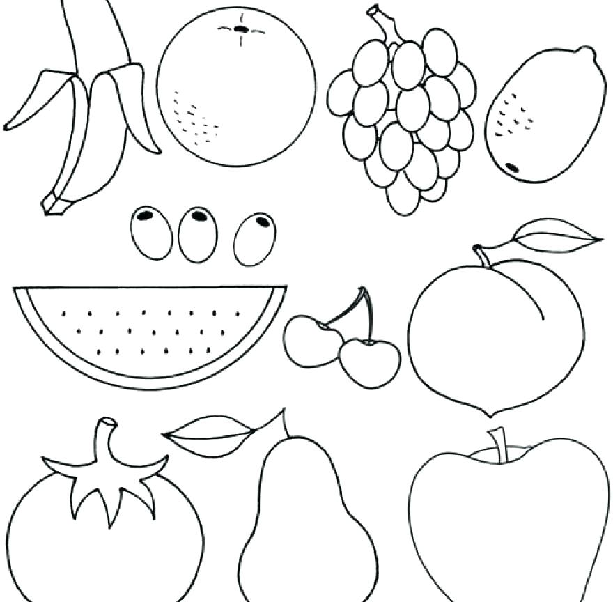 880x864 Printable Fruit Coloring Pages Fruit Color Pages Apple Fruit