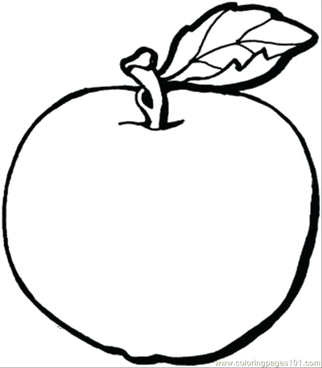 650x742 Unique Free Apple Coloring Pages Mold Ways To Use Coloring Pages