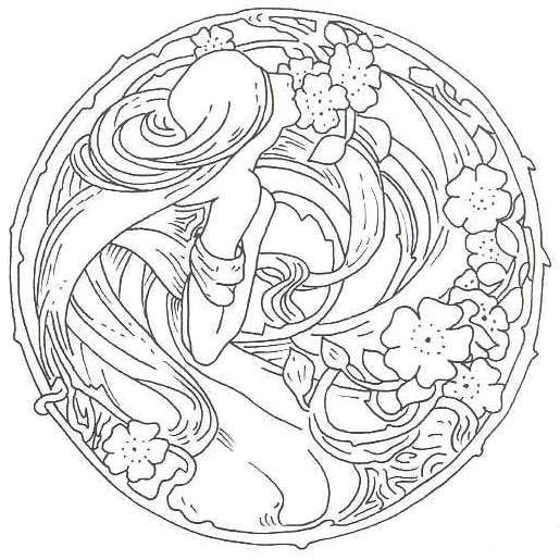 515x515 Best Art Nouveau Images On Art Nouveau, Coloring