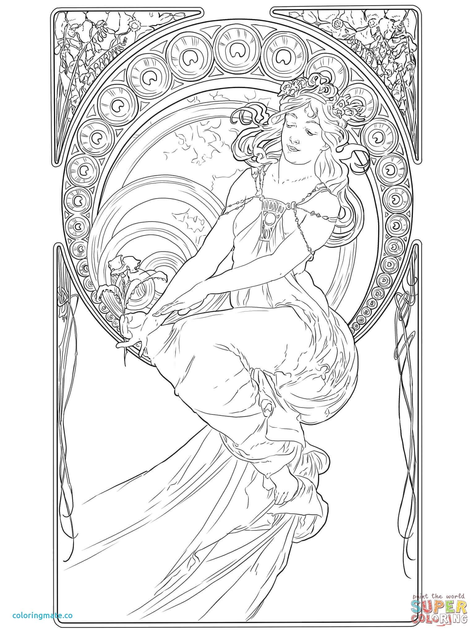 1536x2048 Art Nouveau Coloring Pages Lovely Painting