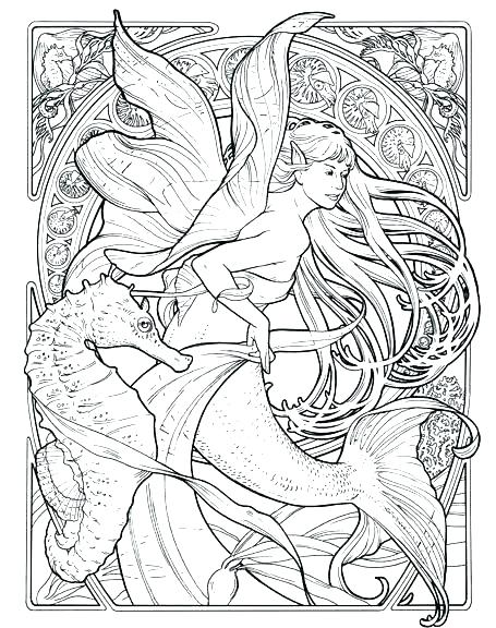 455x576 Free Printable Art Nouveau Coloring Pages Colouring For Adults