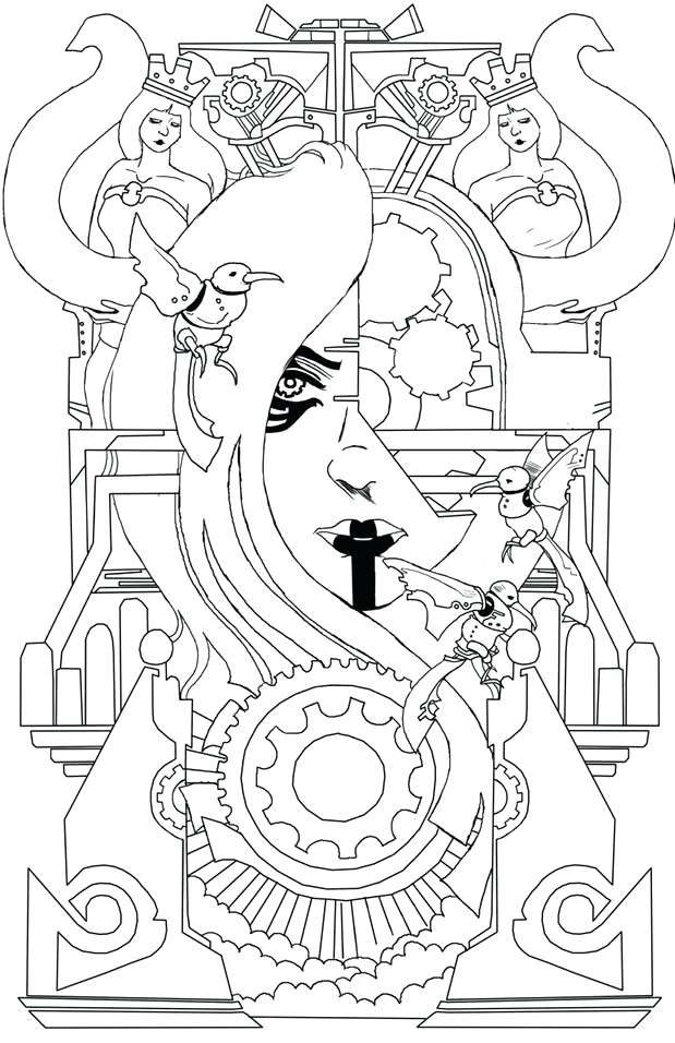 619x956 Art Deco Coloring Pages Art Earth
