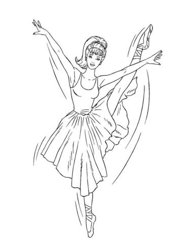 371x480 Barbie Ballerina Coloring Page Barbie Ballerina