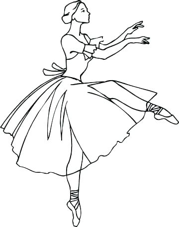 360x456 Free Ballerina Coloring Pages Ballerina Coloring Pages Free