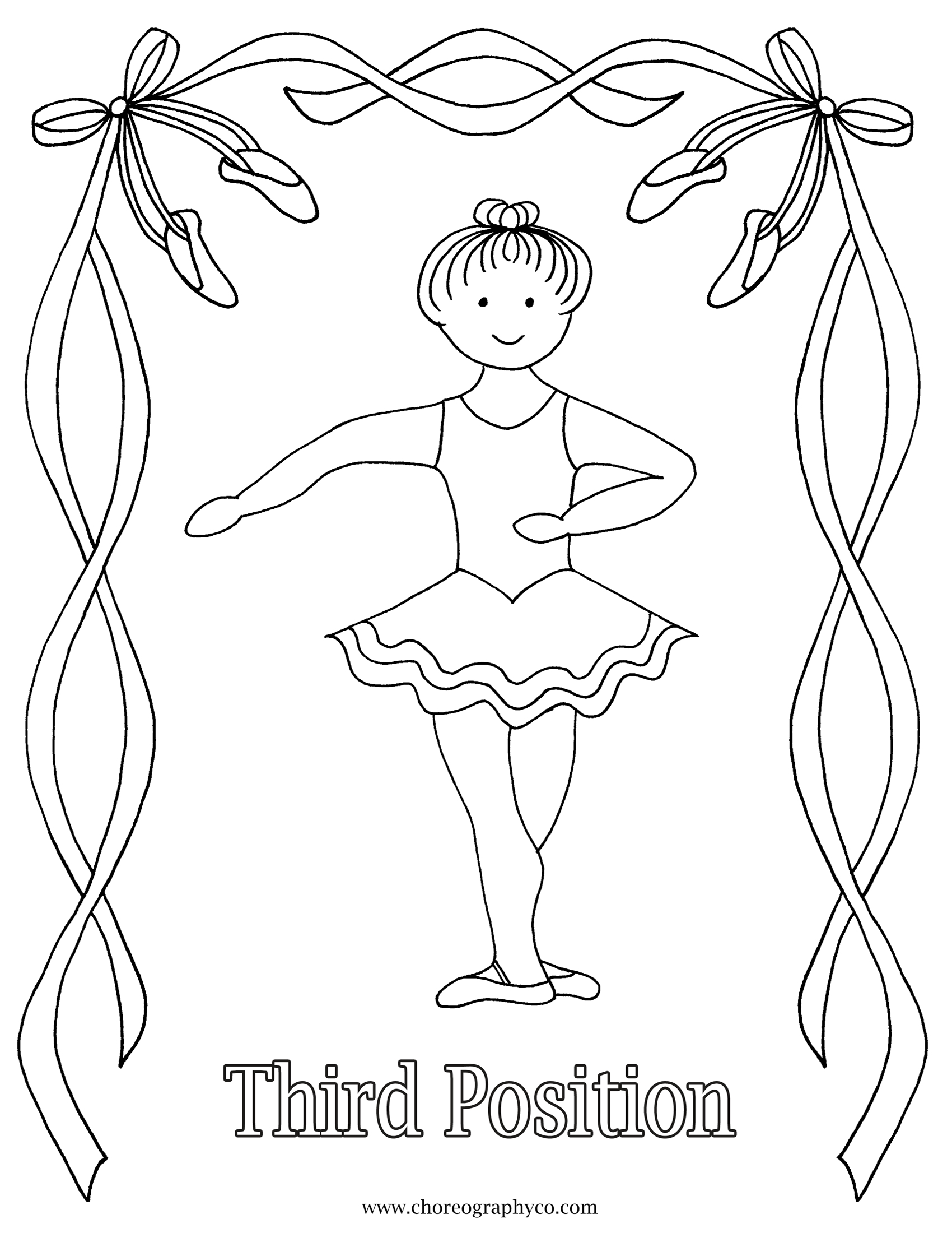 1700x2200 Inspiration Free Printable Ballerina Coloring Pages Ballet