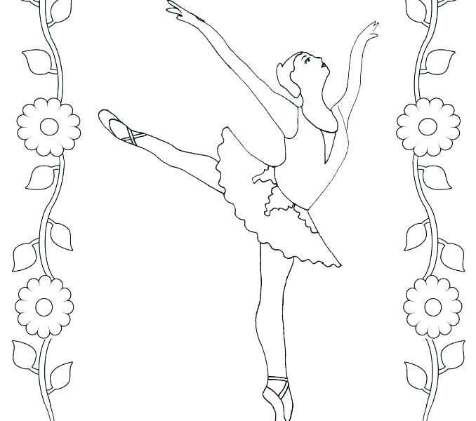 678x600 Ballerina Coloring Pages