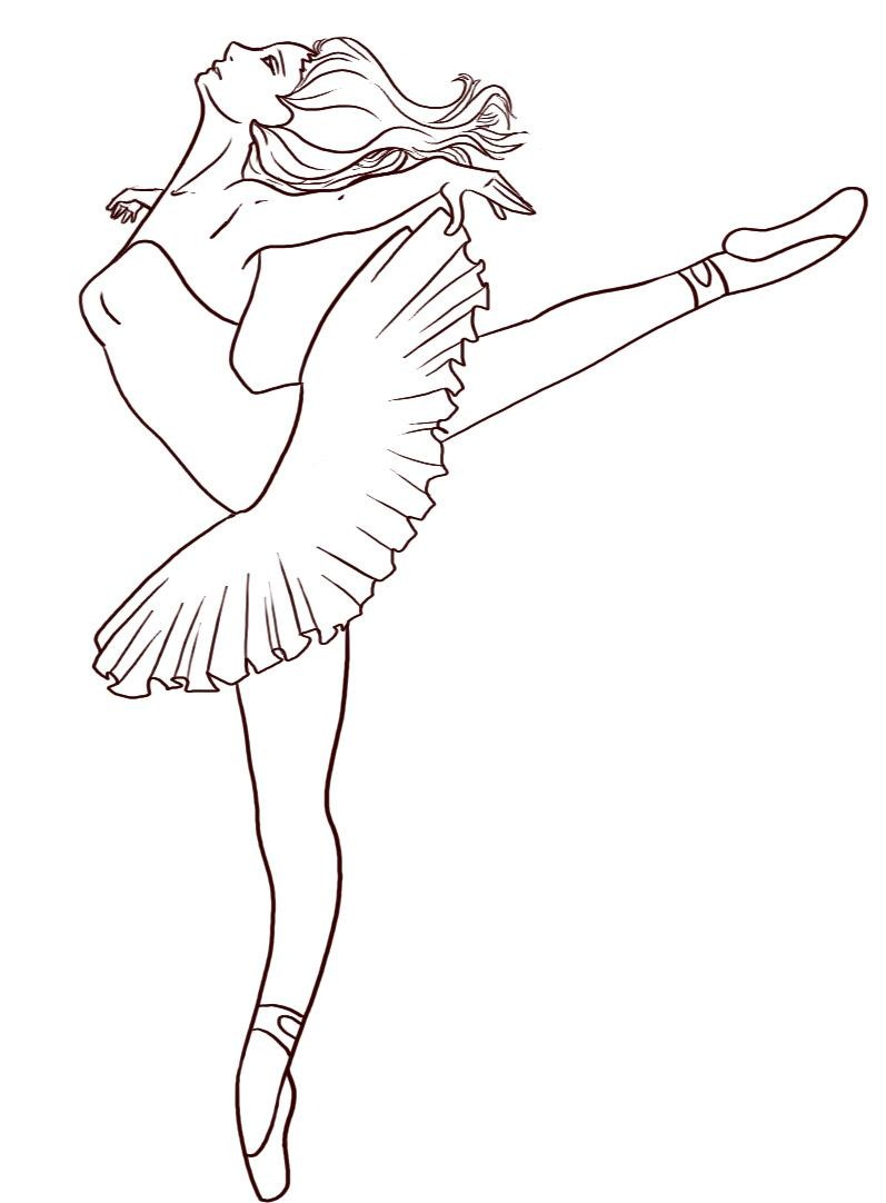 797x1082 Ballerina Coloring Pages