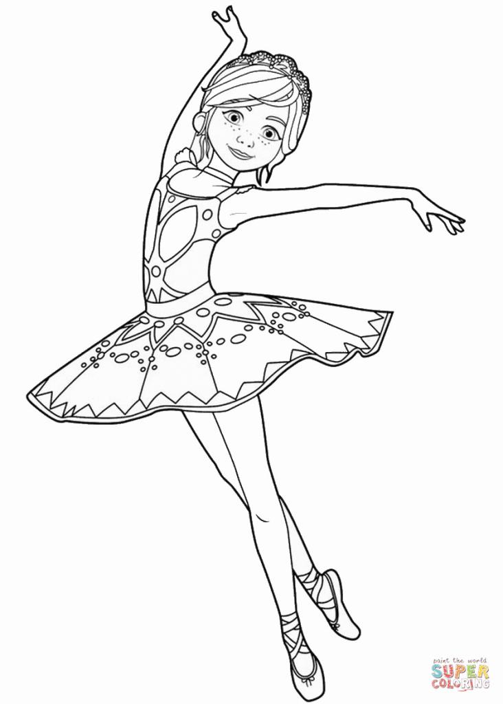 732x1024 Ballerina Coloring Sheets