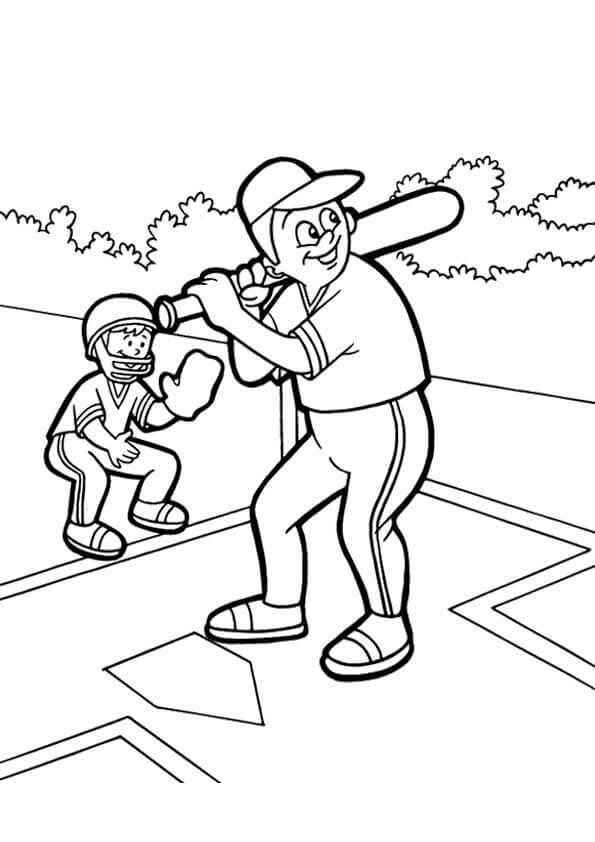 Free Printable Baseball Coloring Pages