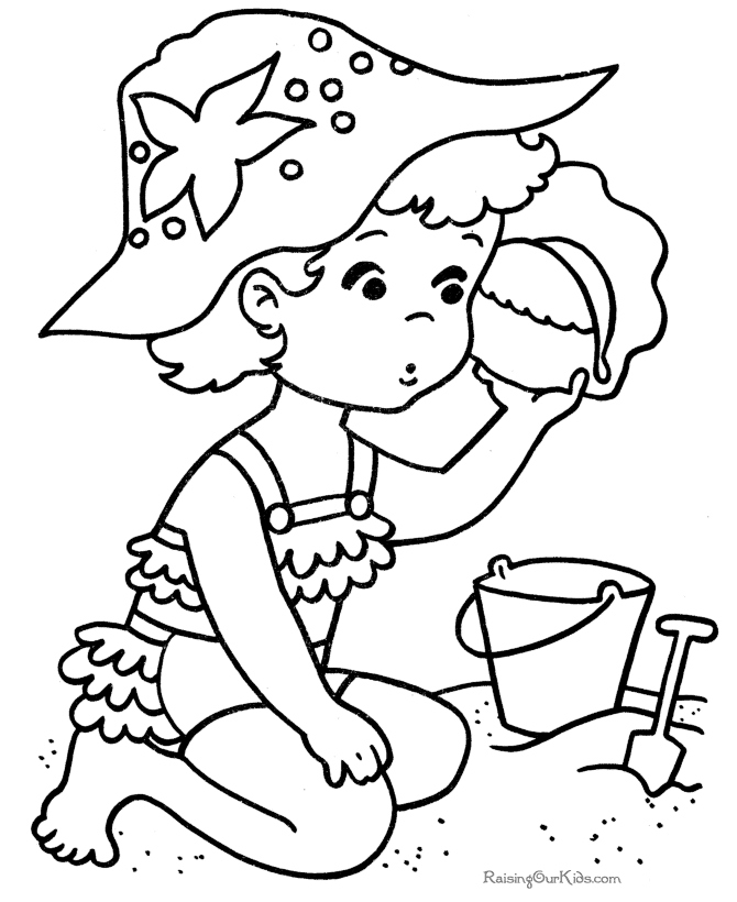 Free Printable Beach Coloring Pages At Getdrawings Com Free For