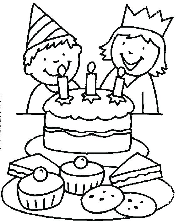 567x714 Free Printable Birthday Coloring Pages Birthday Cake Coloring Page