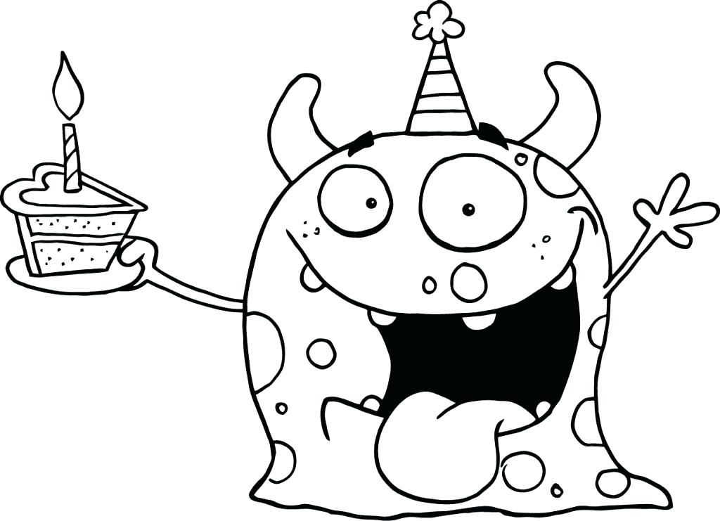 1024x741 Free Printable Happy Birthday Coloring Pages Backgrounds Coloring