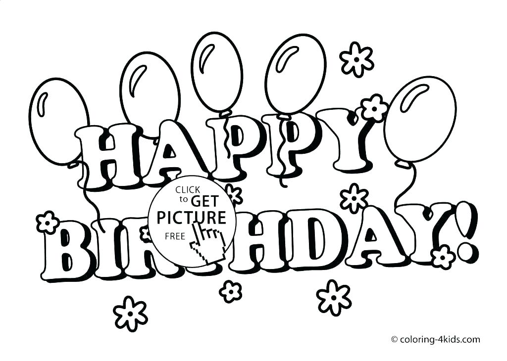 1024x730 Printable Birthday Coloring Pages As Well As Free Printable