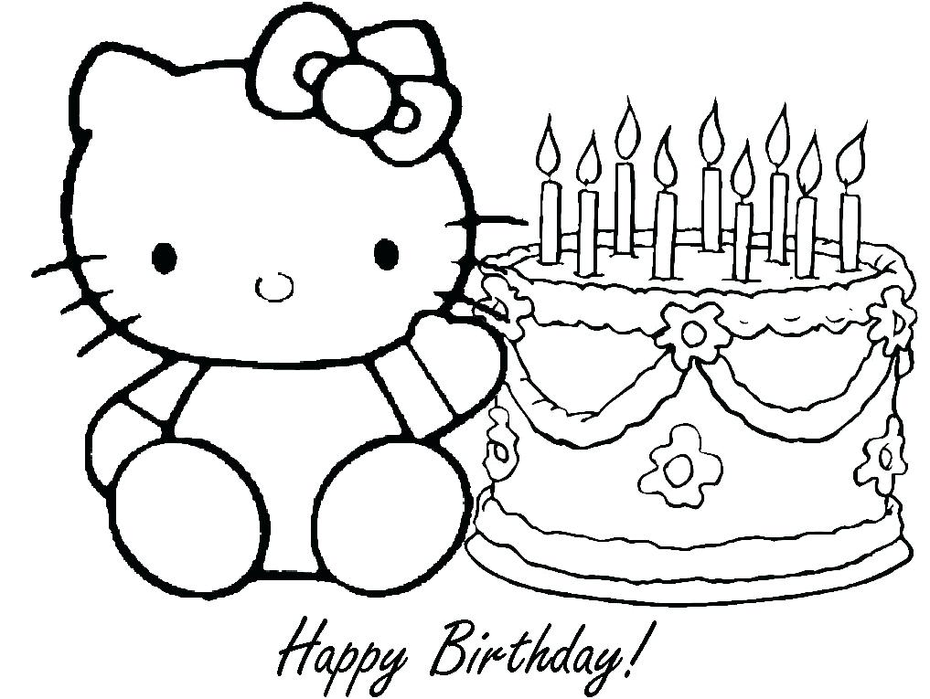 1017x765 Printable Coloring Birthday Cards Or Free Printable Birthday