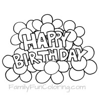 200x200 Printable Happy Birthday Coloring Pages