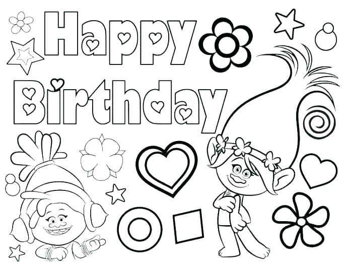 687x530 Printable Happy Birthday Coloring Pages Happy Birthday Grandma