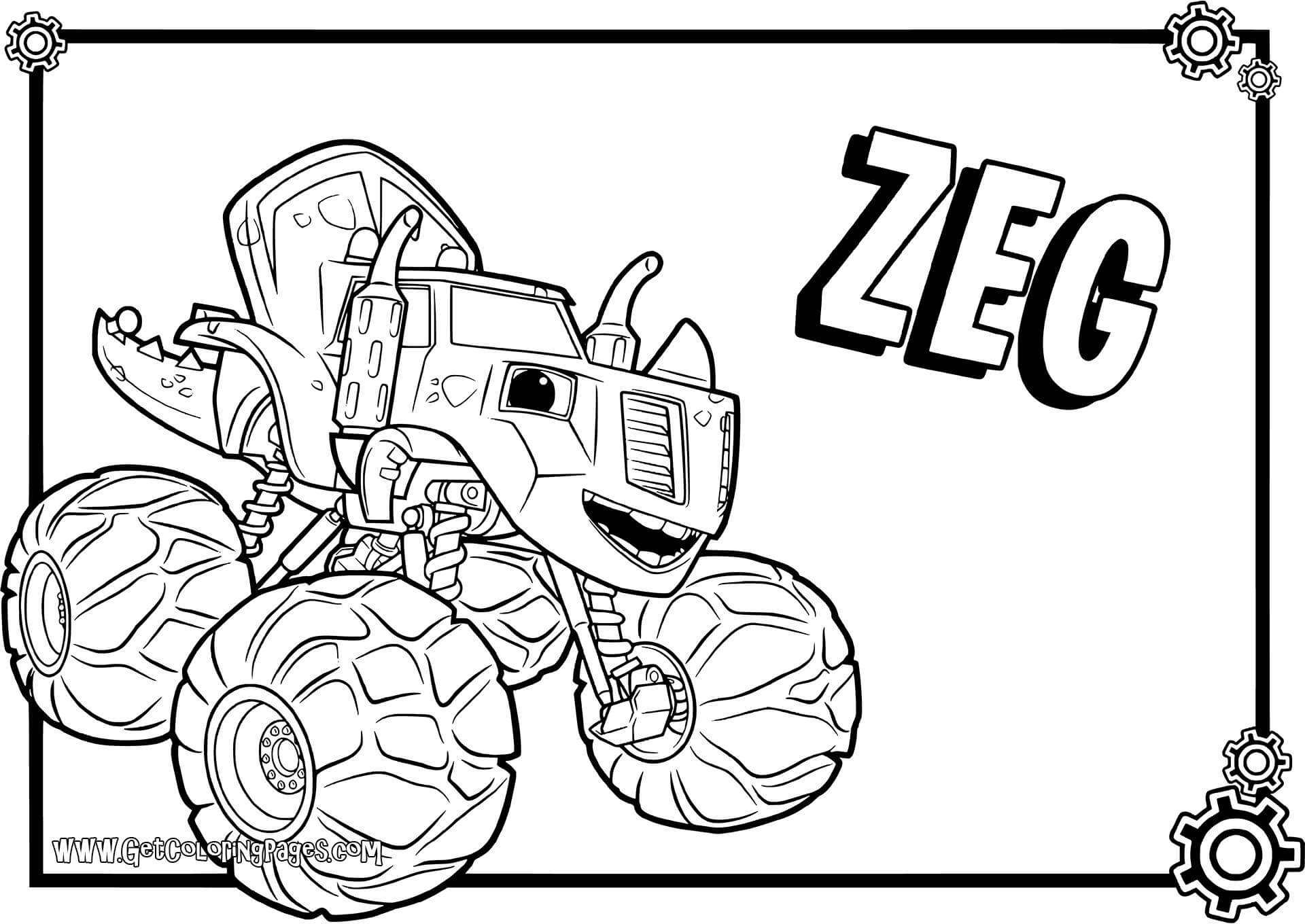 Free Printable Blaze Coloring Pages At Getdrawings Com